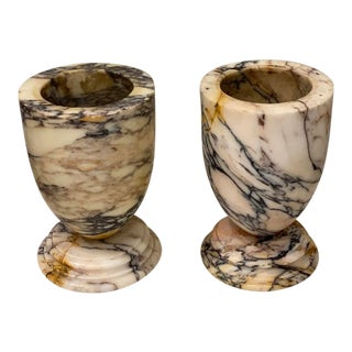 Vintage Traditional Marble Urns - a Pair For Sale