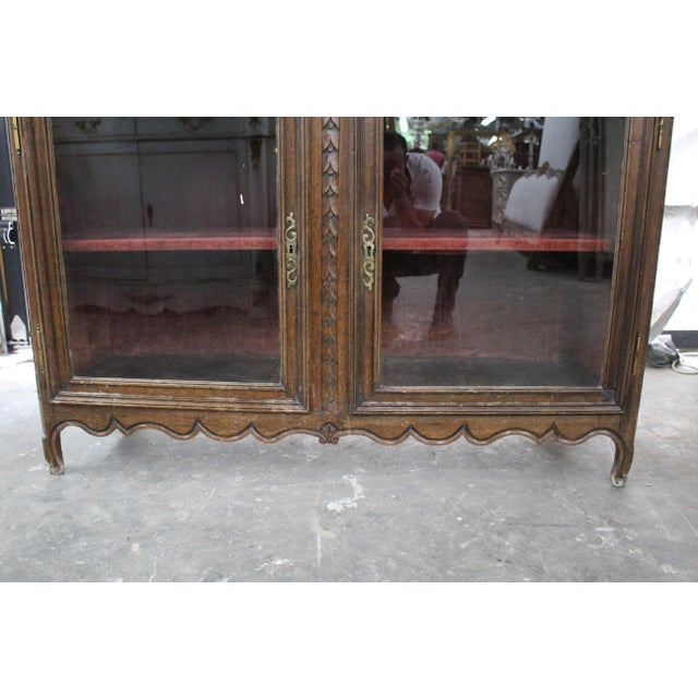 Early 19th Century Antique French Glass Door Sideboard For Sale In Atlanta - Image 6 of 8