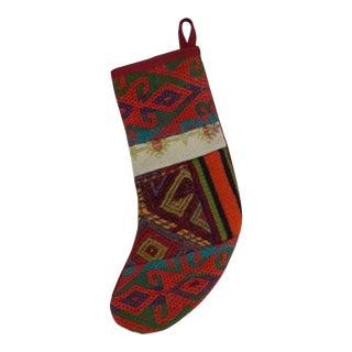 Vintage Kilim Christmas Stocking For Sale
