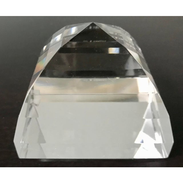 Tiffany and Co. Tiffany & Co Crystal Pyramid Paperweight For Sale - Image 4 of 9