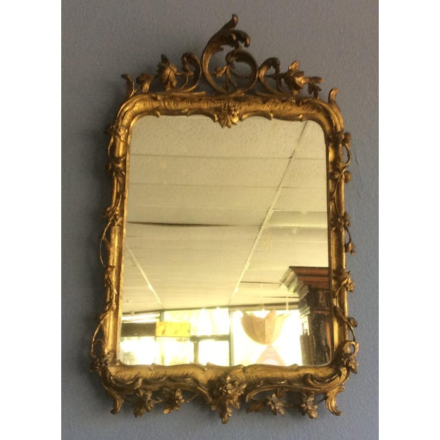 Gold Late 18th Century Rococo Style Giltwood Mirror For Sale - Image 8 of 10