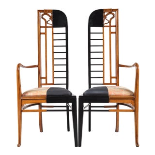Unique Jugendstil / Modern Combination Chairs, Netherlands 1980