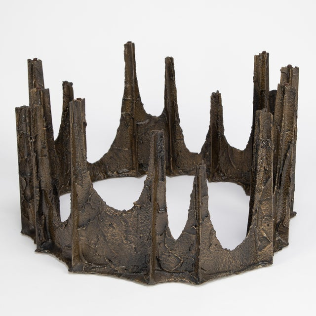 Paul Evans Sculpted Bronze Stalagmite Coffee Table, 1969 For Sale In New York - Image 6 of 13