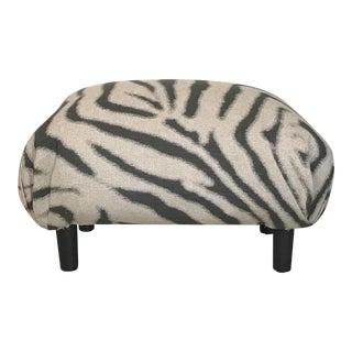 1960s Zebra Stripe Ottoman For Sale