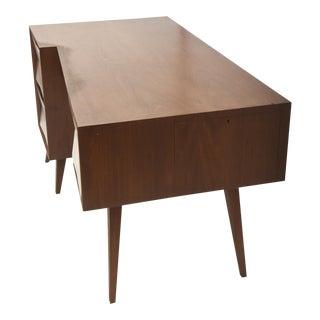 Italian Modern Walnut Desk For Sale