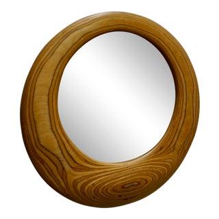 1970's Zebrawood Mirror Signed W. Schwab