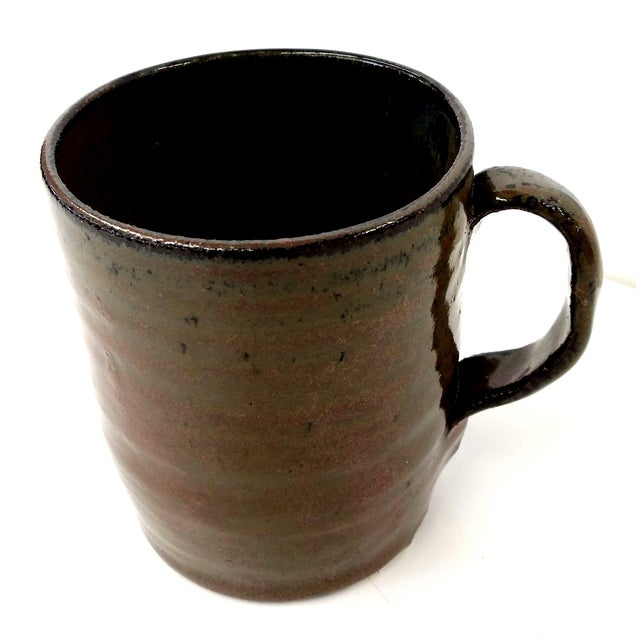 Brutalist Hand-Thrown Artisan Shaving Mug For Sale - Image 3 of 7