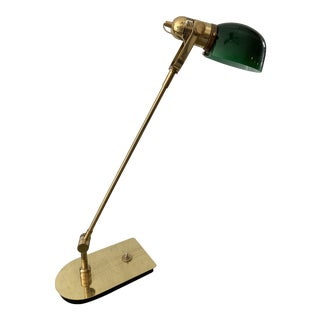 Mid Century Solid Brass Pharmacy Desk Lamp For Sale