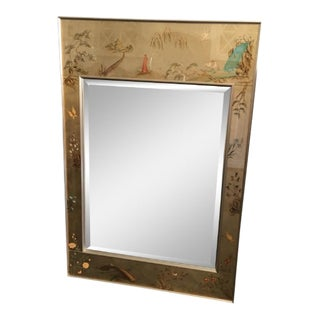 1970's Vintage La Barge / LaBarge Chinoiserie Églomisé Mirror For Sale