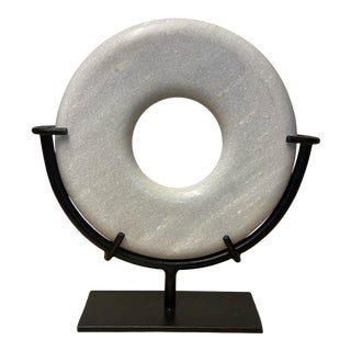 Contemporary Marble Ring on Stand For Sale