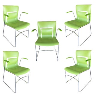 "Green Stylex ""Rhythm"" Armchair by Sava Cvek - Set of 5 For Sale"