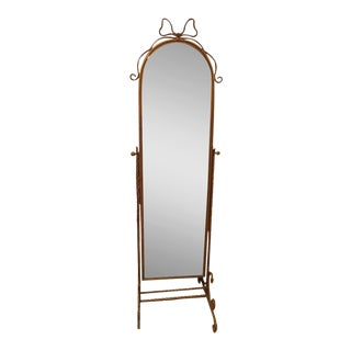 Italian Gilt Metal Full Length Mirror