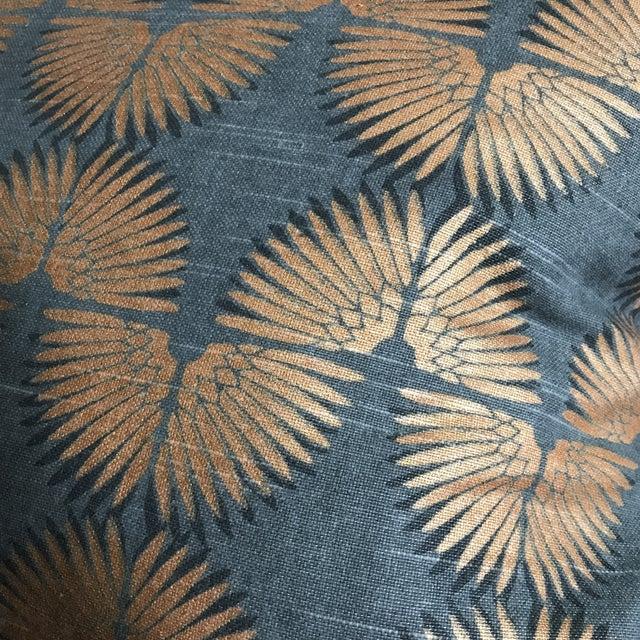Gray & Copper Art Deco Pillow - Image 4 of 5