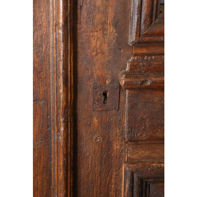 Set of French Painted Double Entry Door With Iron Insert For Sale In Los Angeles - Image 6 of 11