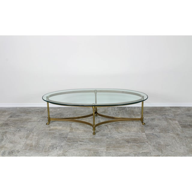 Metal Mid Century Labarge Brass Coffee Table, Brass Coffee Table For Sale - Image 7 of 12