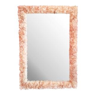 Marjorie Skouras Chrysanthemum Mirror With Pink Fire Quarts Crystals For Sale