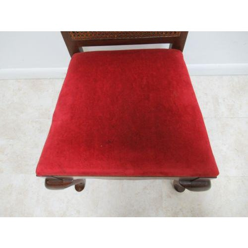 Thomasville Vintage Thomasville Solid Cherry Queen Anne Caned Side Chair For Sale - Image 4 of 11