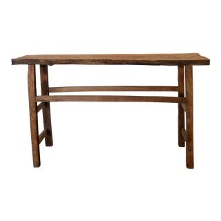 Vintage Rustic Barnwood Console For Sale