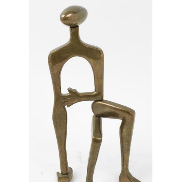 Figurative Mid-Century Brass Sculpture by Arleen Eichengreen and Nancy Gensburg For Sale - Image 3 of 8