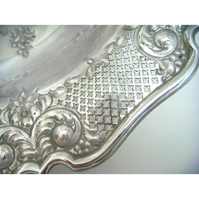 Antique Lloyd, Payne & Ariel Silver Cake Stand, Swing Handle For Sale - Image 4 of 6