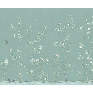 "Casa Cosima Octavia Blue Wallpaper Mural - 4 Panels 144"" W X 120"" H For Sale"