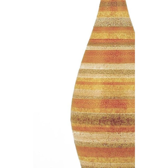 Pair of Striped Salt Glazed Pottery Table Lamps - Image 4 of 5