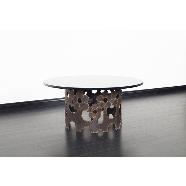 Black Vintage Bronze Coffee Table For Sale - Image 8 of 10