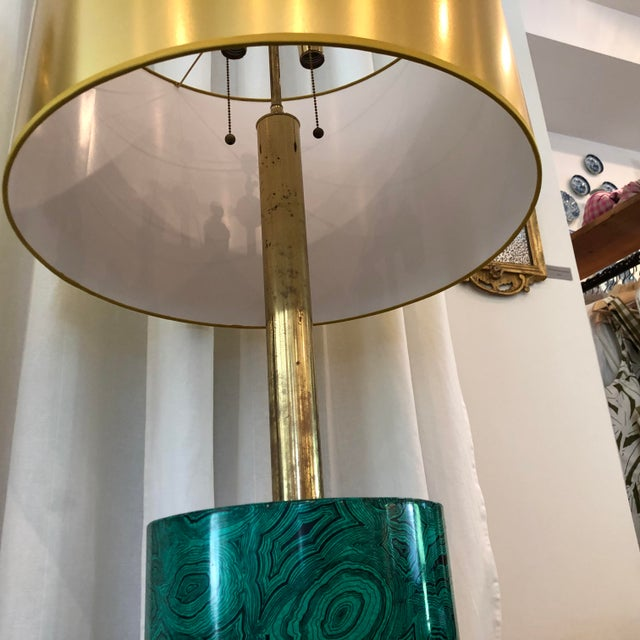 Fabulous faux malachite floor lamp by Piero Fornasetti in beautiful condition with all new wiring a great mid-century...