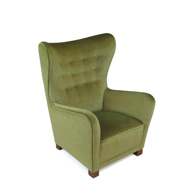 Fritz Hansen 1942 Thorald Madsen for Fritz Hansen High Back Lounge Chair For Sale - Image 4 of 11
