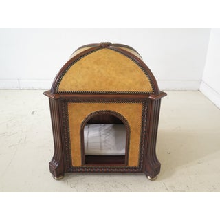 Maitland Smith Leather & Mahogany Dome Top Pet House Preview