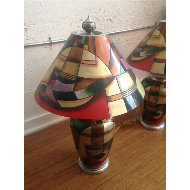 C. 1960 Kalifano Art Pottery Lamps - A Pair - Image 4 of 7