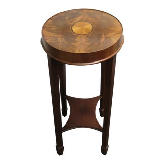 Mid-Century Inlaid Oval Side Table by Hekman Furniture Co. For Sale
