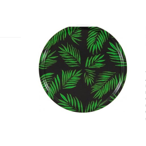 """""""Palm Beach Green"""" Round Tray - Image 2 of 2"""