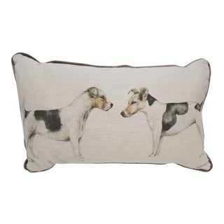 """Jack Russel Terriers Pillow - 19"""" x 11"""" x 6"""" For Sale"""