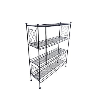 Mid-Century Modern Metal Étagère | Bookshelf |Freestanding Retro Plant Stand | Versatile 4-Tier Storage/Display Shelves For Sale