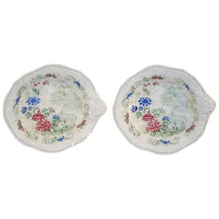 19th Century Floral Shaped Dishes - a Pair For Sale