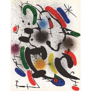 1970 Joan Miro V1-6 Mourlot Original Lithograph For Sale