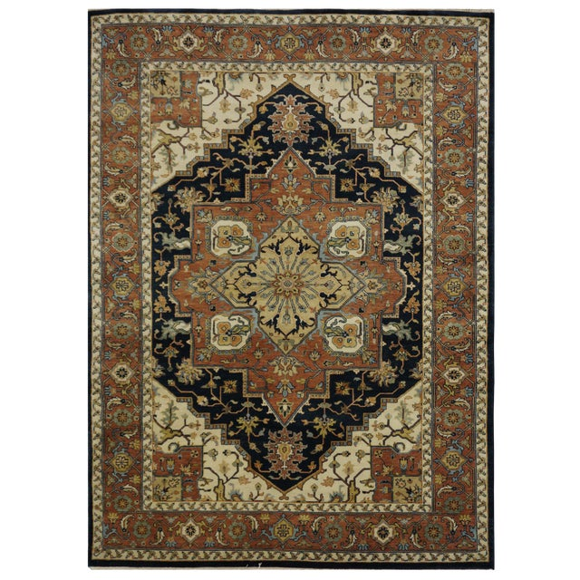 "New Indian Tabriz Design Rug - 6' x 8'7"" - Image 1 of 3"