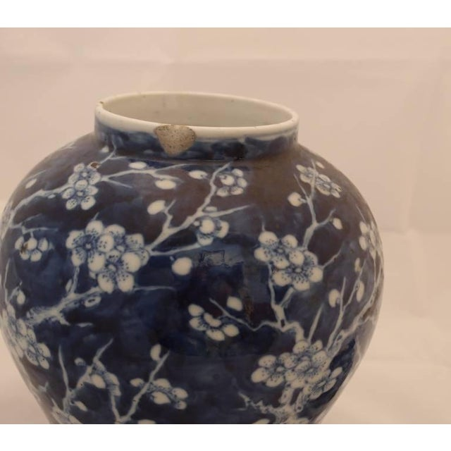 Early 19th Century Pair of Blue Porcelain Vases For Sale - Image 5 of 8
