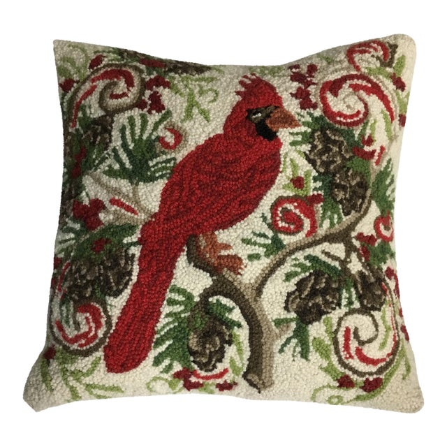 Red Cardinal Hook Pillow - Image 1 of 5