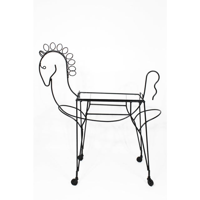 Mid-Century Modern Mid-Century Horse-Form Bar Cart by John Risley For Sale - Image 3 of 12