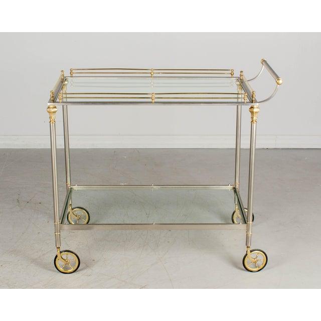 1970s 1970s Maison Jansen Style Italian Bar Cart For Sale - Image 5 of 12