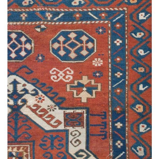 19th Century Fachralo Kazak Rug - 4′10