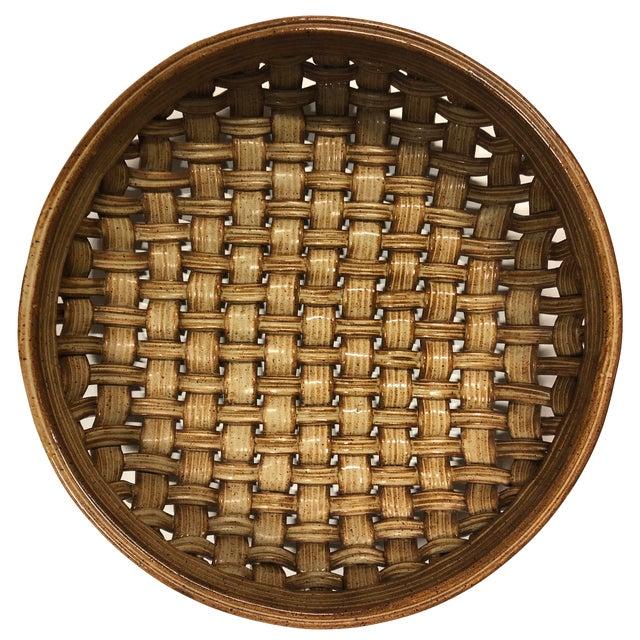 Phil Sellers River Hill Pottery Basket Weave Bowl or Platter For Sale - Image 13 of 13