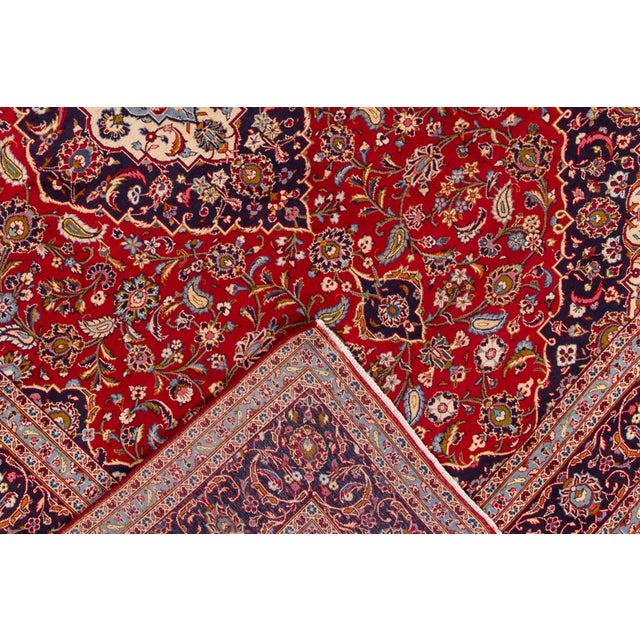 "Islamic Vintage Persian Kashan Rug, 9'07"" X 13'00"" For Sale - Image 3 of 10"