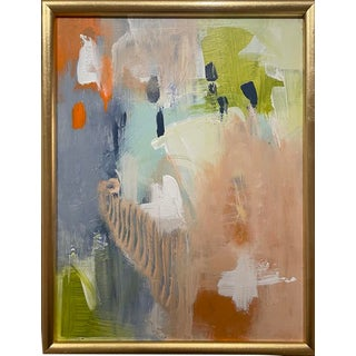 Contemporary Colorful Abstract Framed Painting For Sale