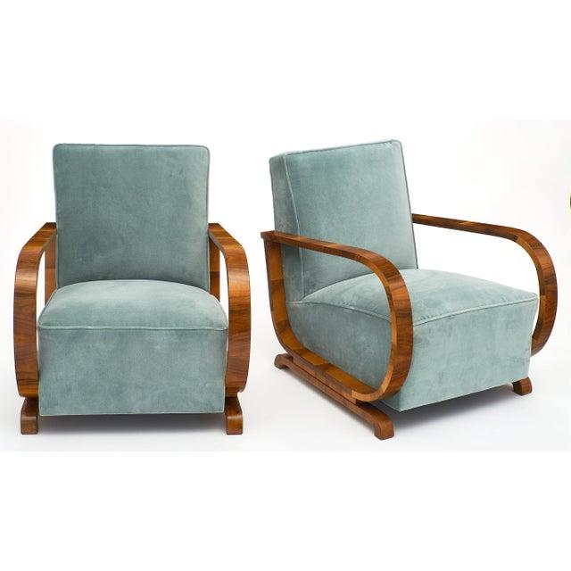 Art Deco Austrian Armchairs For Sale - Image 4 of 11