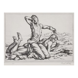 "1939 American Classical Lithograph ""Two Boys on a Beach"" by Paul Cadmus"