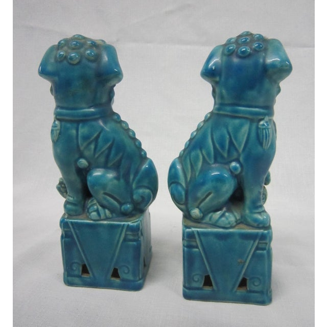 Japanese Turquoise Foo Dogs - A Pair - Image 5 of 7
