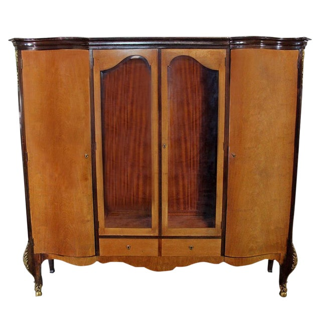 Louis XV Bronze Banded Armoire For Sale